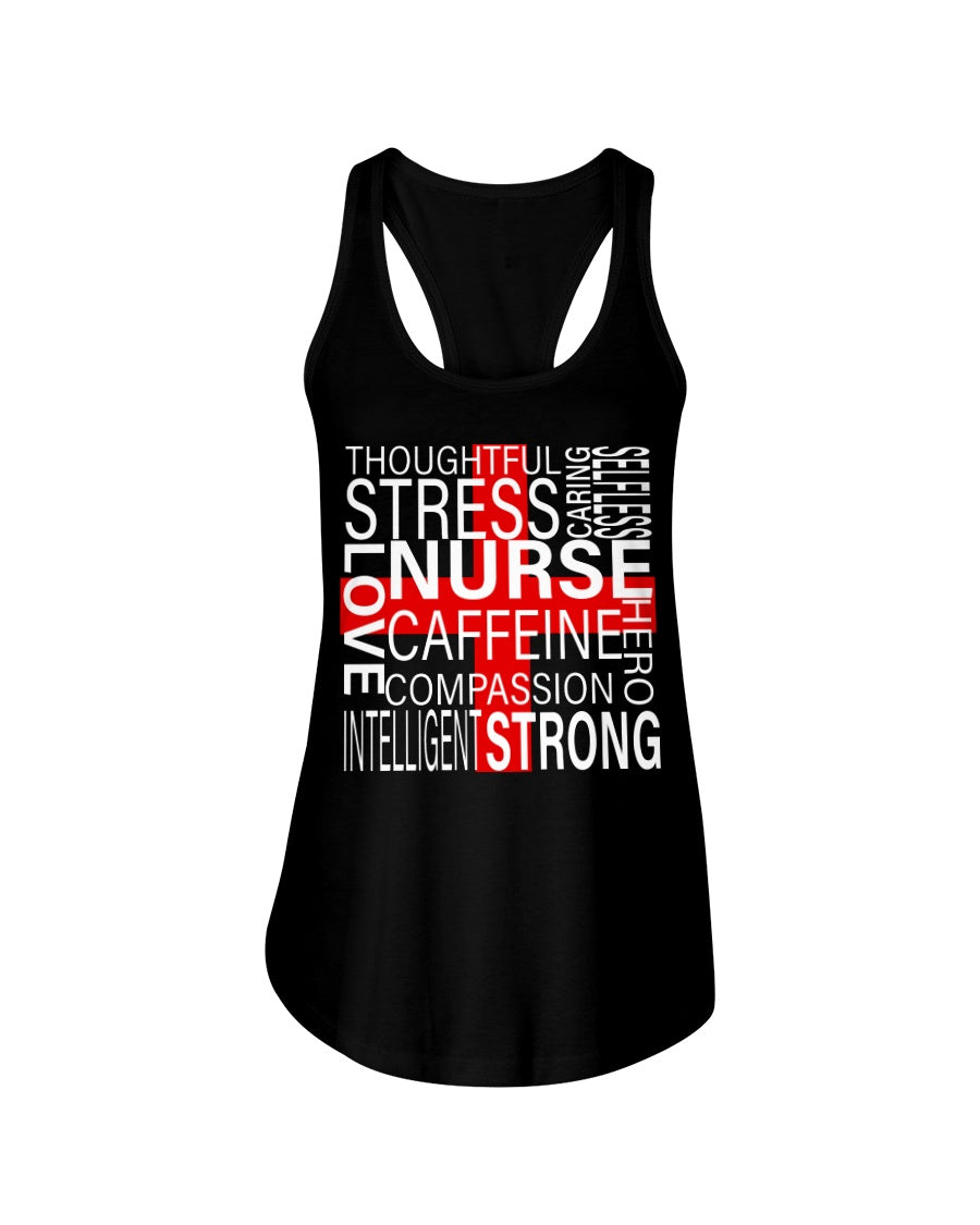 Thoughful Stress Strong Nurse Custom Design Ladies Flowy Tank