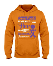 Load image into Gallery viewer, Some People Never Meet Their Her Pancreatic Cancer Awareness Hoodie