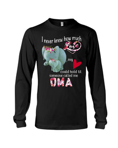 Elephants Someone Called Me Oma Funny Design Unisex Long Sleeve