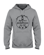 Load image into Gallery viewer, Just An Alberta Girl In A Saskatchewan  World Personalized Nation Gifts Hoodie