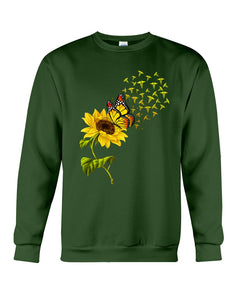 Butterfly Sunflower Nurse Custom Gift For Friends Sweatshirt