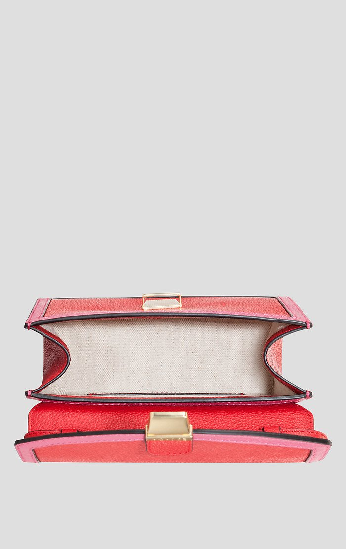 ESCADA Two-Tone Leather Shoulder Bag