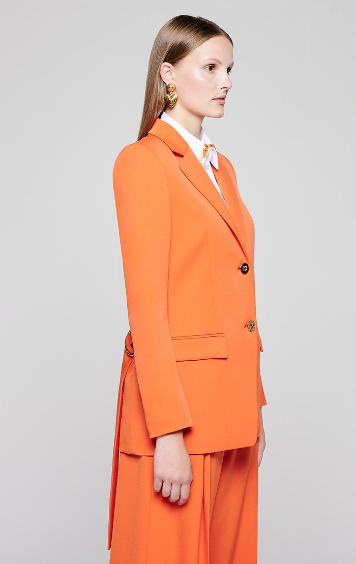 ESCADA Wool Stretch Belted Blazer