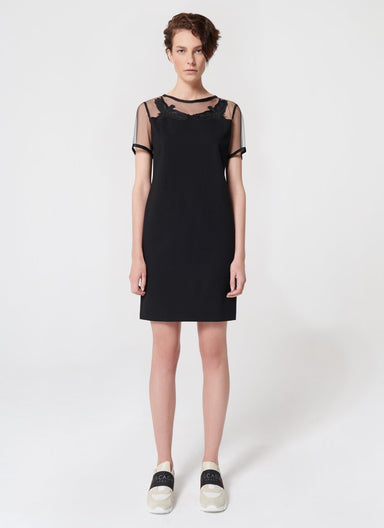Milano Jersey Dress With Tulle - ESCADA ?id=16489919938692
