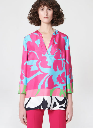 ESCADA Placed printed silk tunic