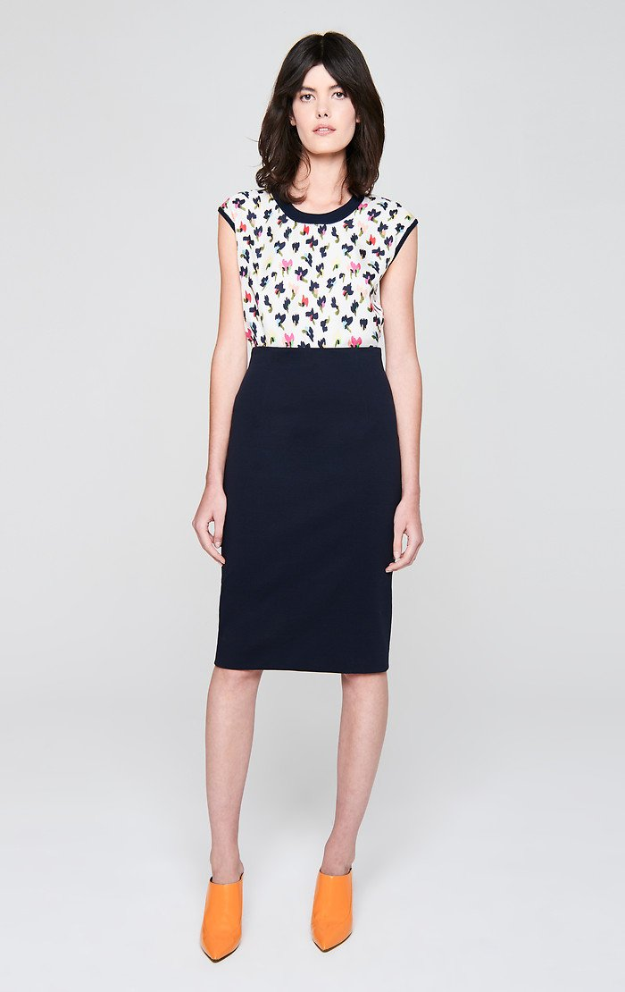 ESCADA Ruched Back Pencil Skirt
