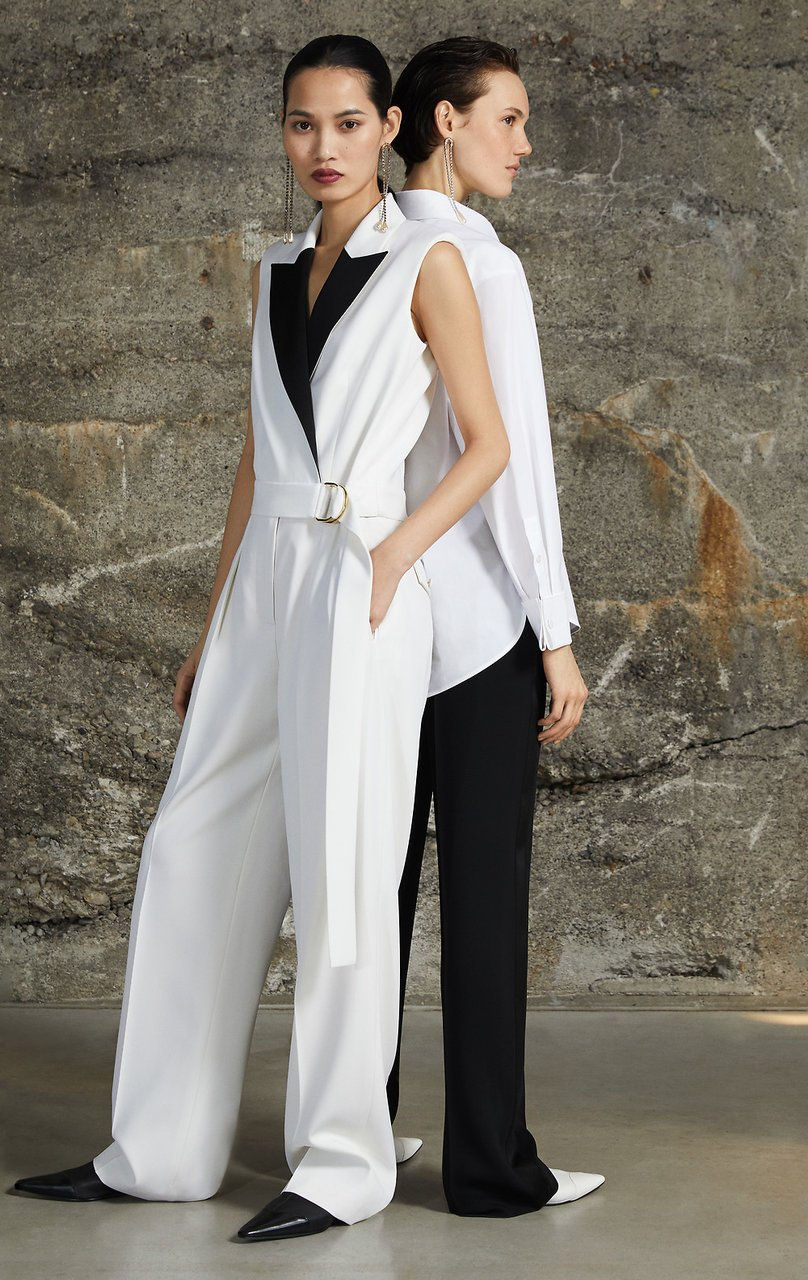 ESCADA Wool Twill Belted Jumpsuit