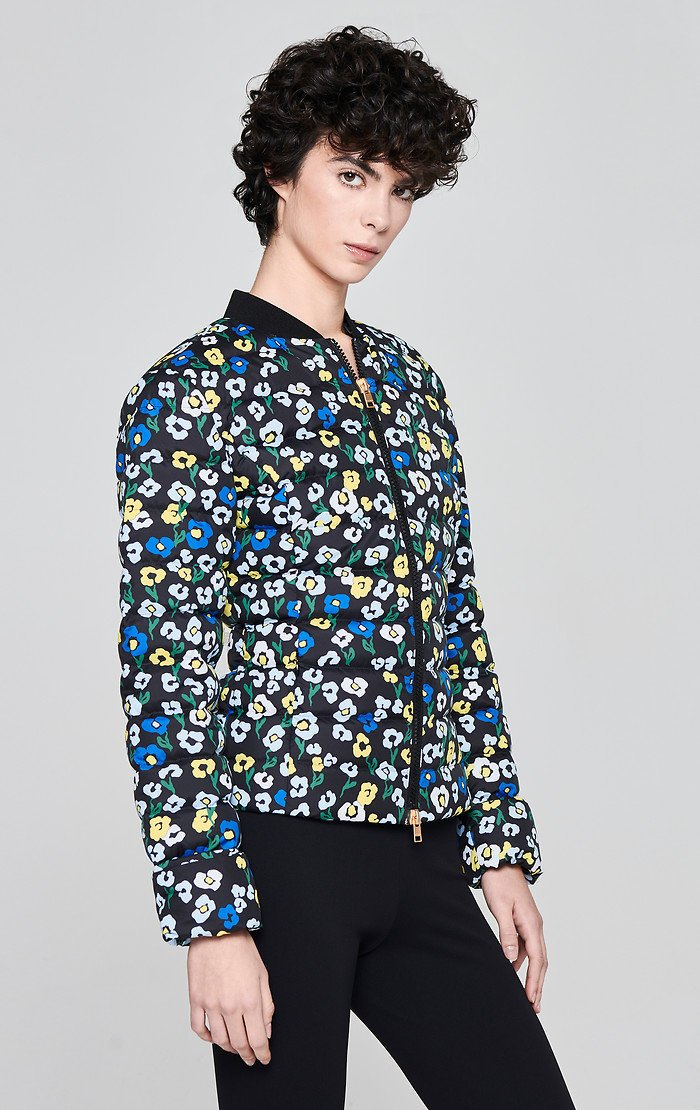 ESCADA Floral Quilted Down Jacket