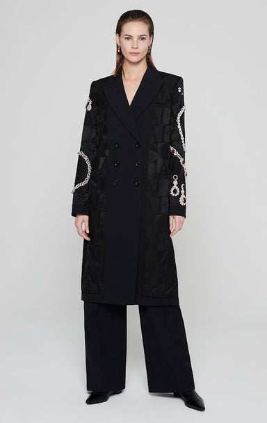 Residency Collection - Wool Silk Embellished Coat
