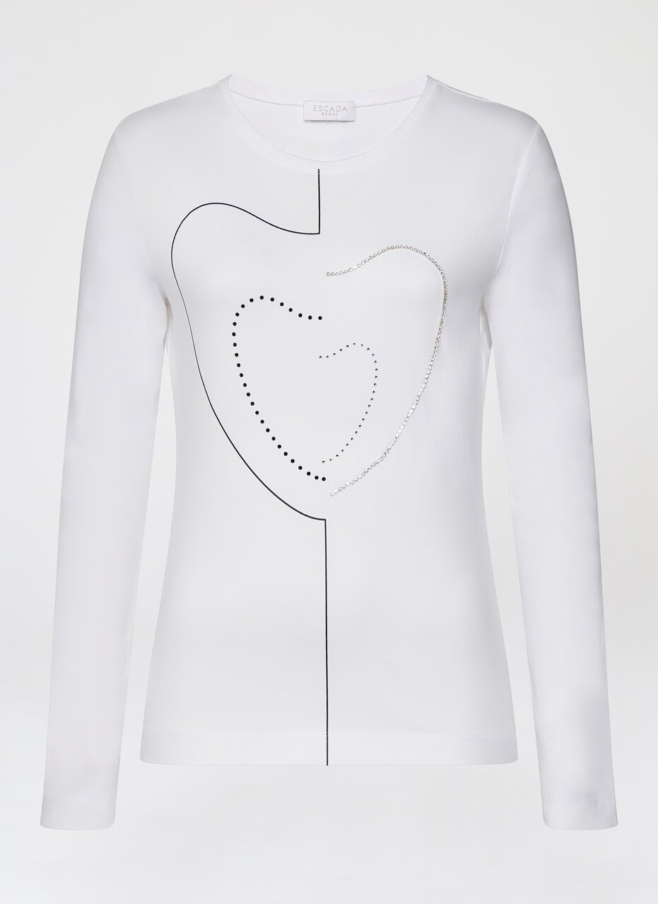 ESCADA Embroidered Cotton Stretch T-Shirt