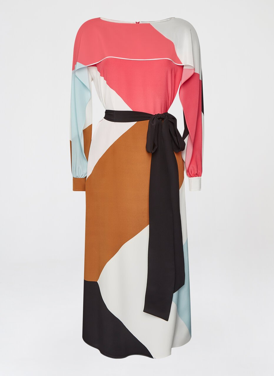 ESCADA Silk dress with flounce detail