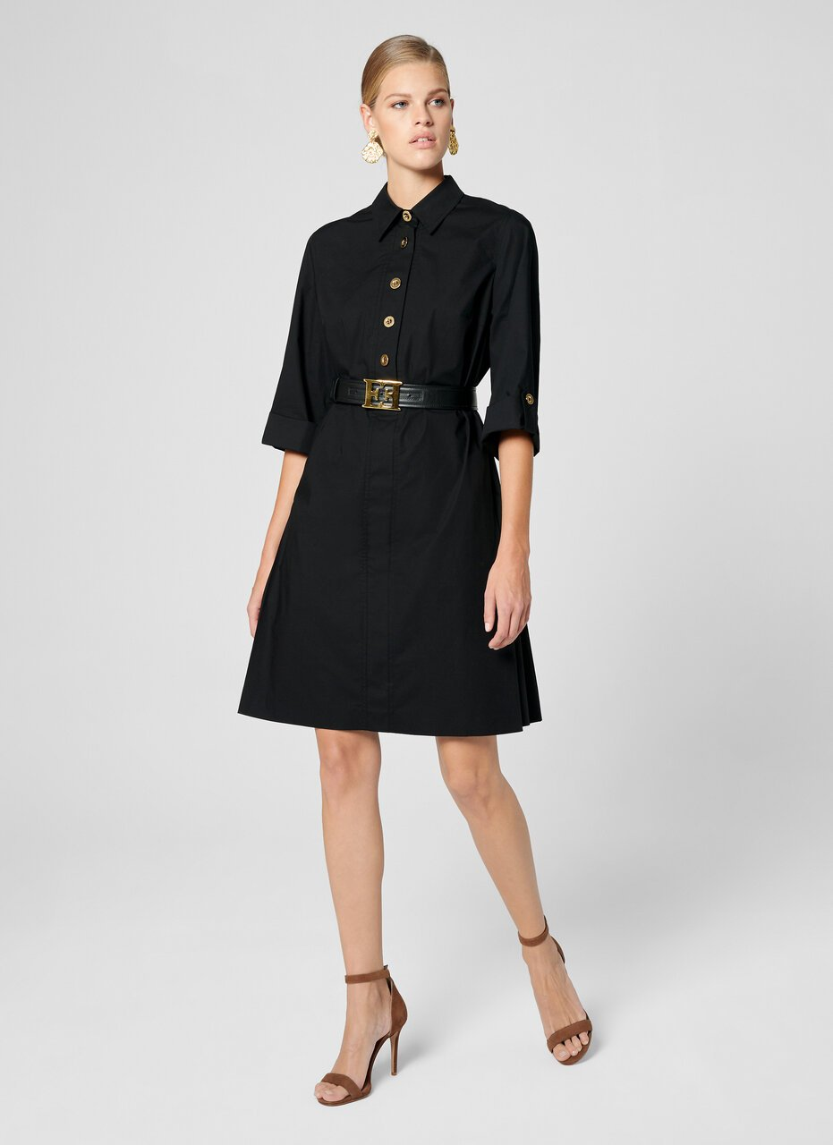 ESCADA Cotton Poplin Safari Dress