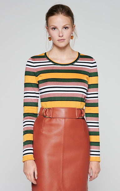 ESCADA Stripe Jacquard Sweater