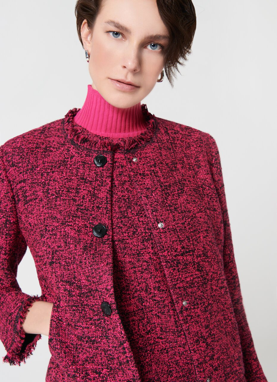 Wool Tweed Cropped Jacket - ESCADA