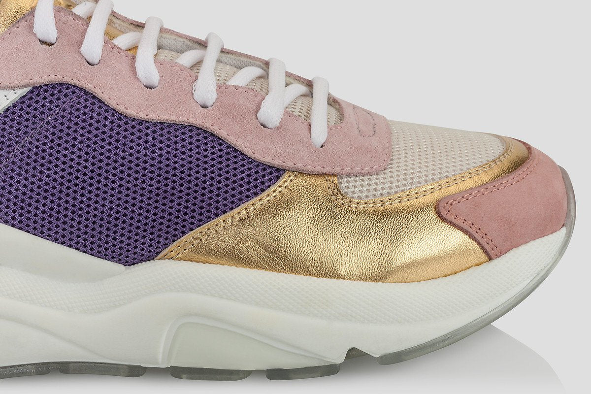 ESCADA Leather and Mesh Sneakers