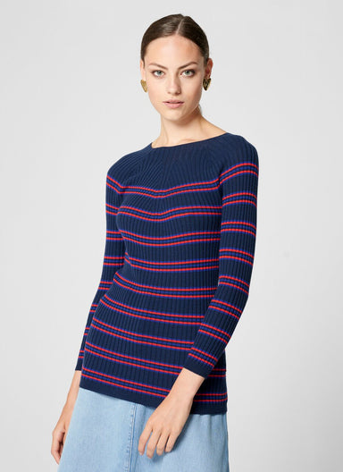 Virgin Wool Stripe Sweater - ESCADA ?id=16464456089732