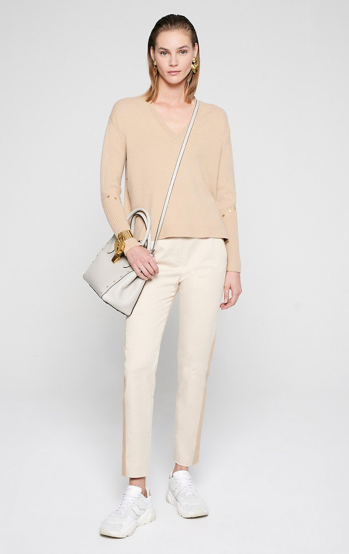 ESCADA Cotton Stretch Two-Tone Pants