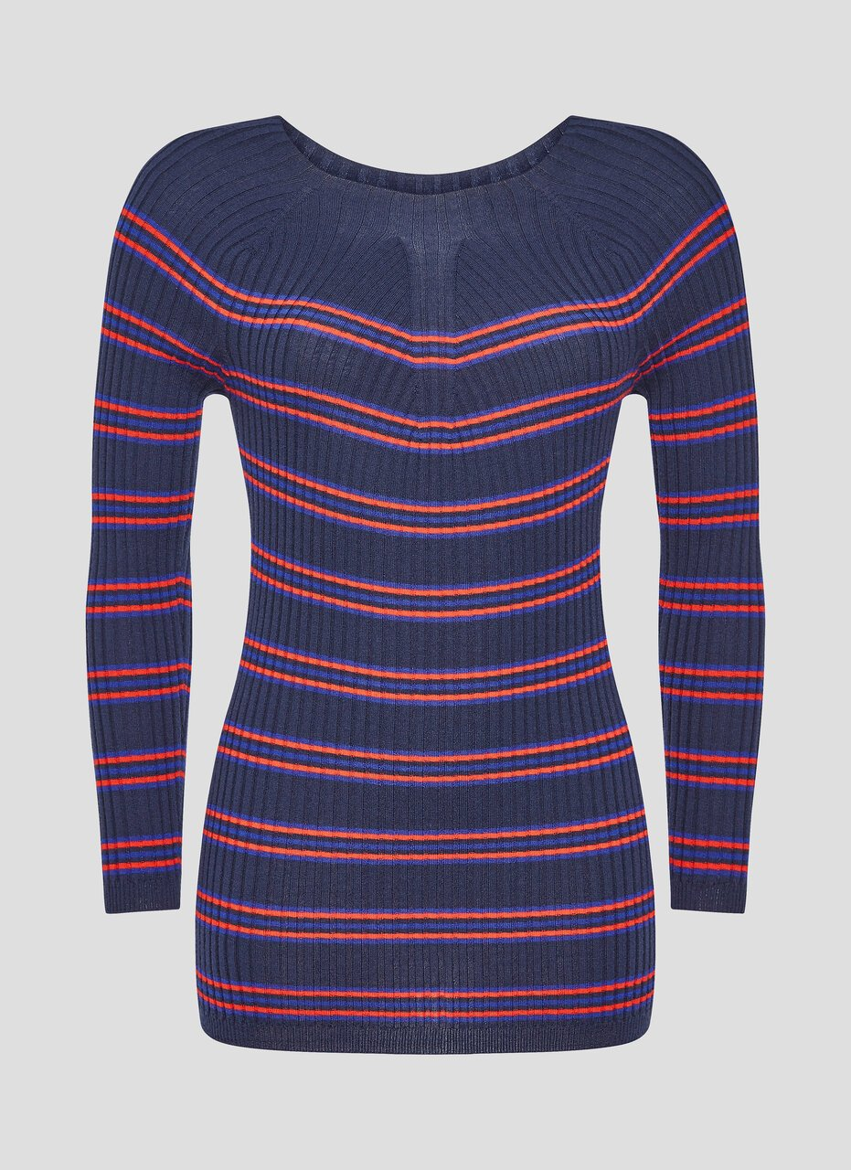 Virgin Wool Stripe Sweater - ESCADA ?id=16464456286340