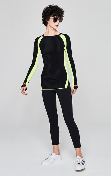 Contrast Stripe Rib-Knit Sweater - ESCADA ?id=16179949273220