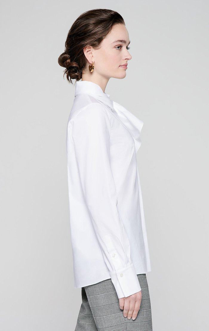 ESCADA Cotton Poplin Ruffle Collar Shirt