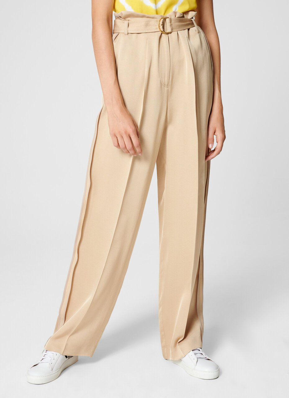 Crepe Belted Wide-Leg Pants - ESCADA ?id=16464465723524