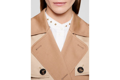 ESCADA Gabardine Two-Tone Trench Coat