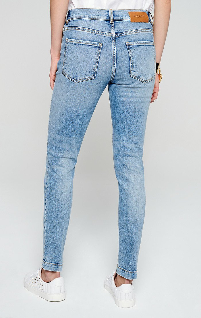 ESCADA Studded Skinny Ankle Jeans