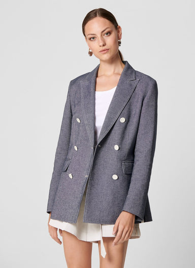 Cotton Linen Blazer - ESCADA ?id=16462503608452