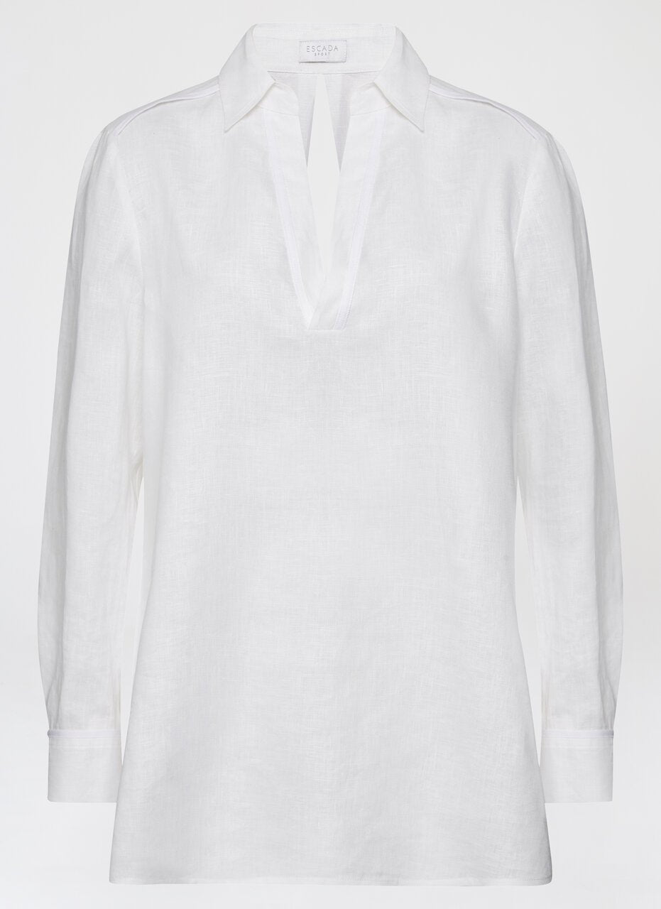 ESCADA Linen Tunic Top