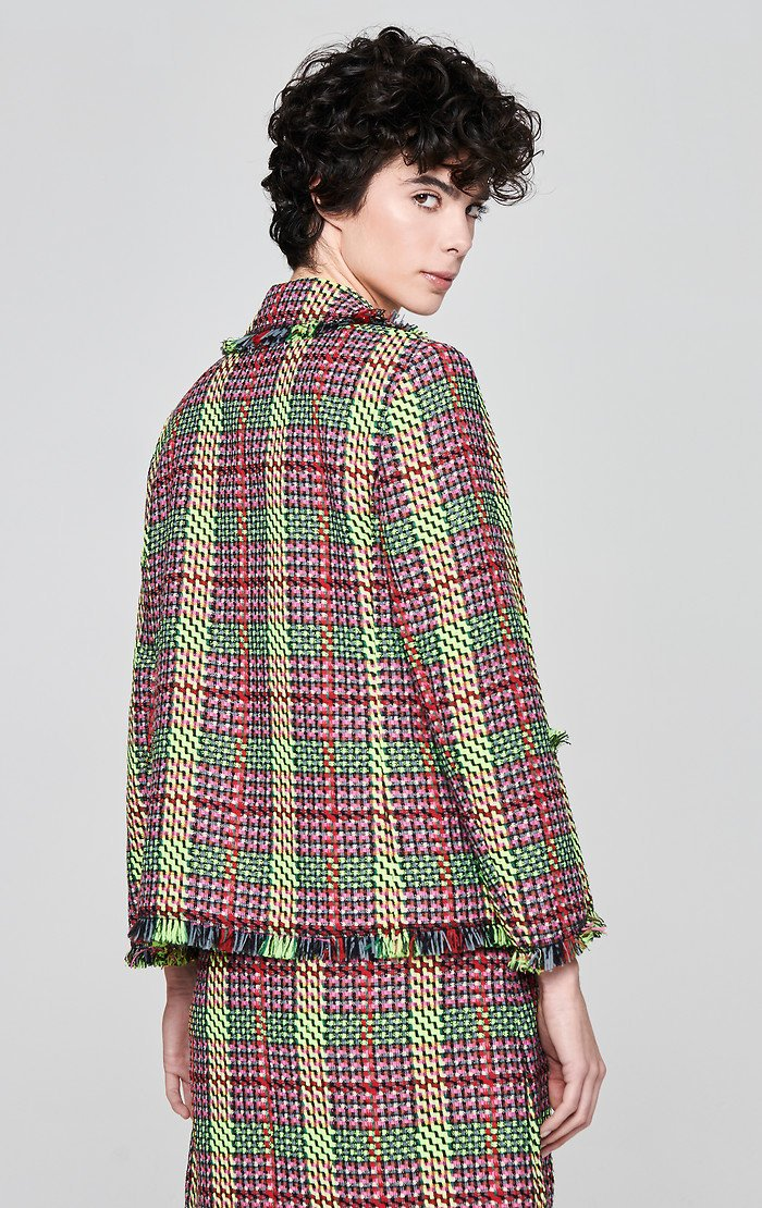 Multicolor Check Tweed Jacket - ESCADA ?id=16179942916228