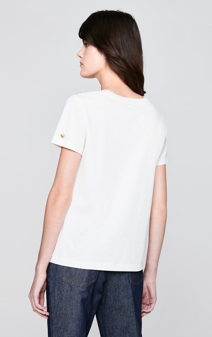 ESCADA Jersey and Silk Embroidered T-shirt