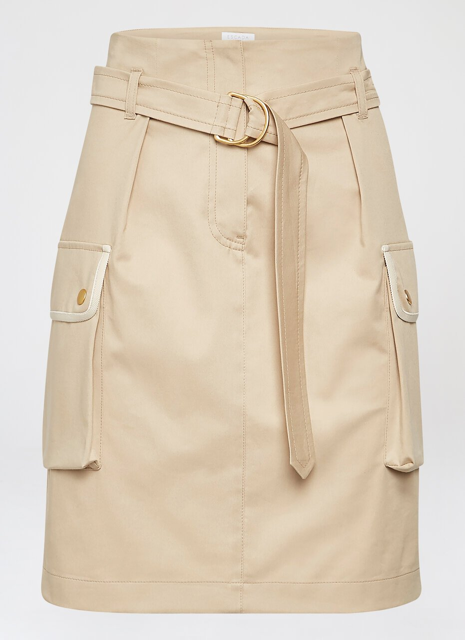 Cotton Belted Mini Skirt - ESCADA ?id=16464451010692