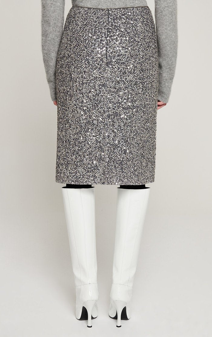 ESCADA Sequined Silk Pencil Skirt