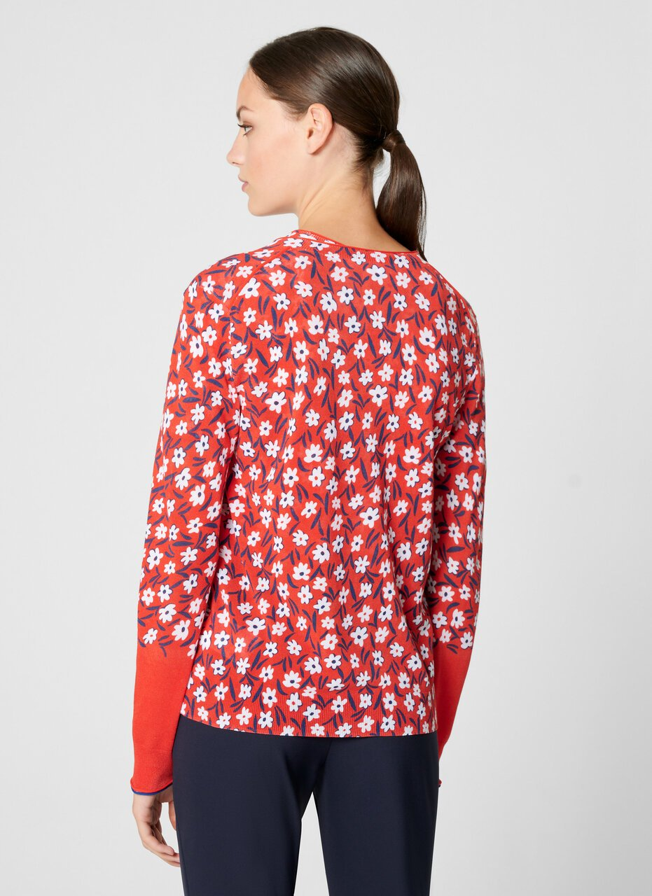 Cotton Blend Floral Cardigan - ESCADA ?id=16402035507332