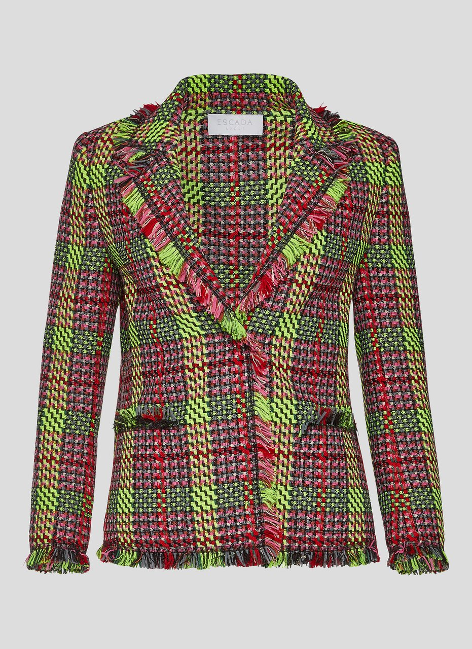 Multicolor Check Tweed Jacket - ESCADA ?id=16179943243908