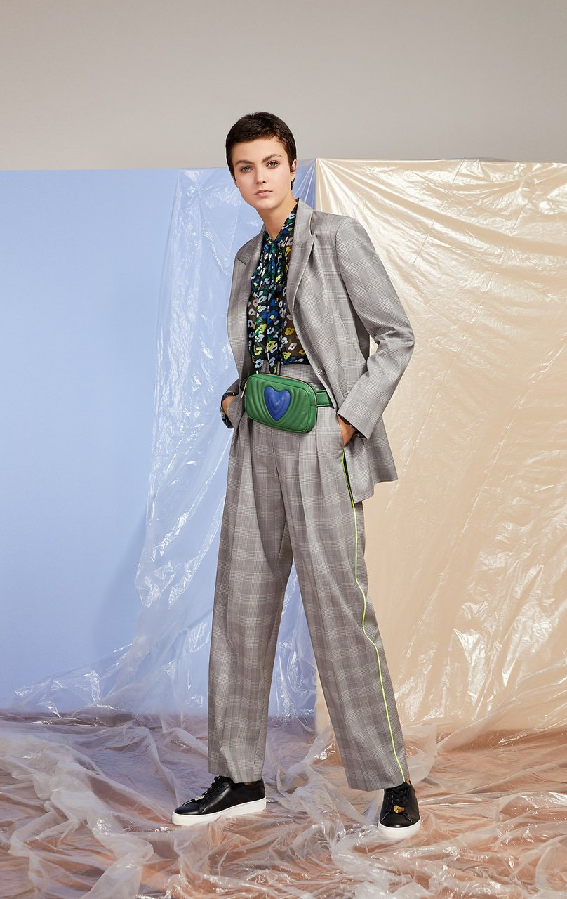 Wool Check Pleated Pants - ESCADA ?id=16179941408900