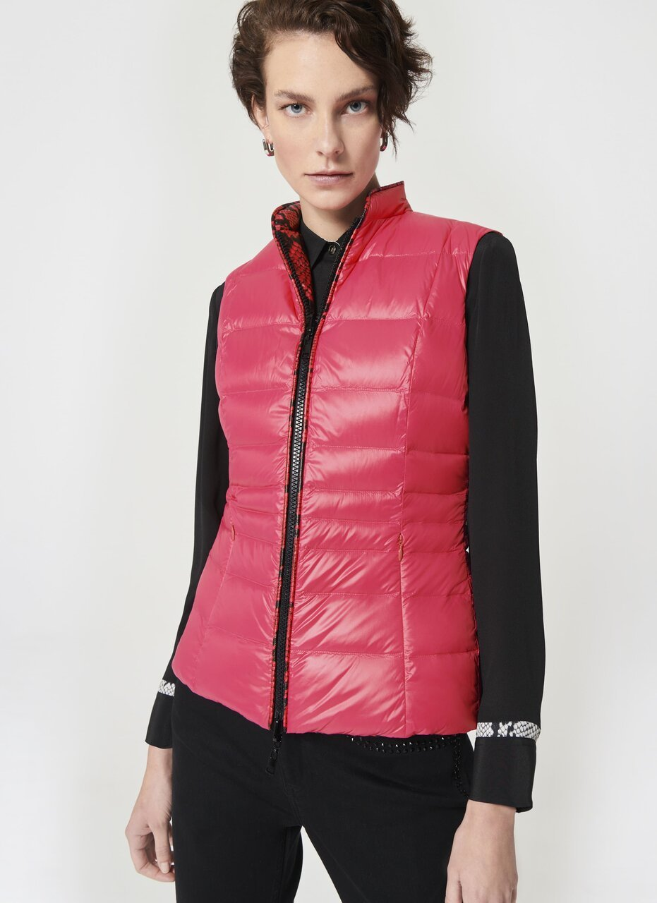 ESCADA Reversible Python Printed Down Vest
