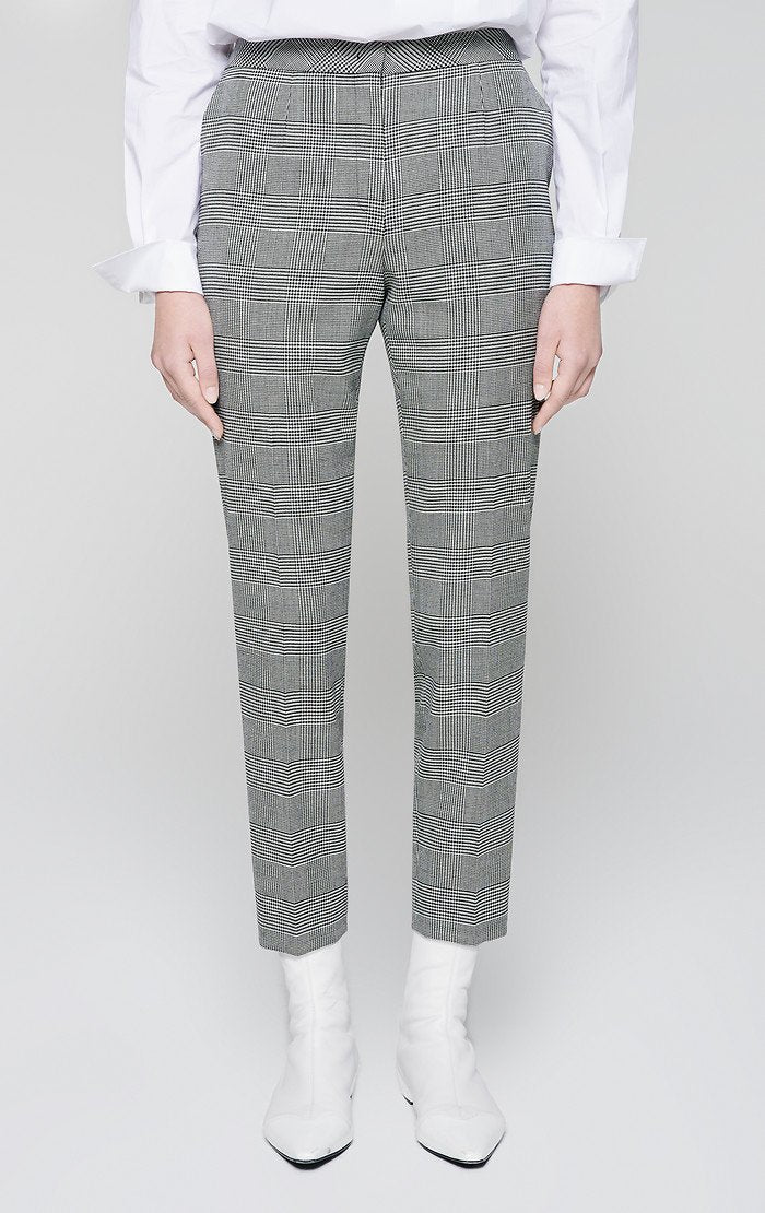 ESCADA Virgin Wool Check Pants