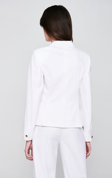 ESCADA Wool Satin Trim Blazer