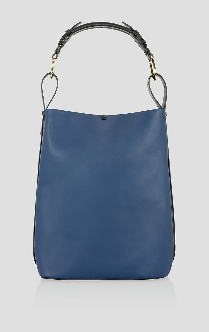 Large Suede and Leather Tote Bag - ESCADA