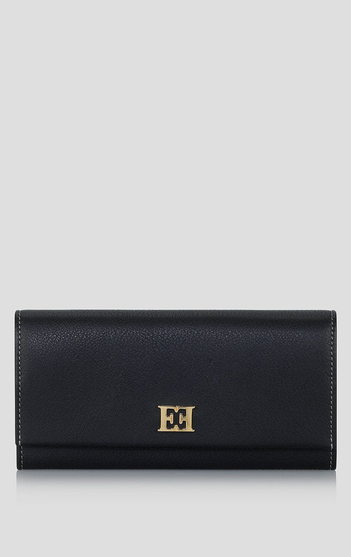 Leather Monogram Wallet - ESCADA