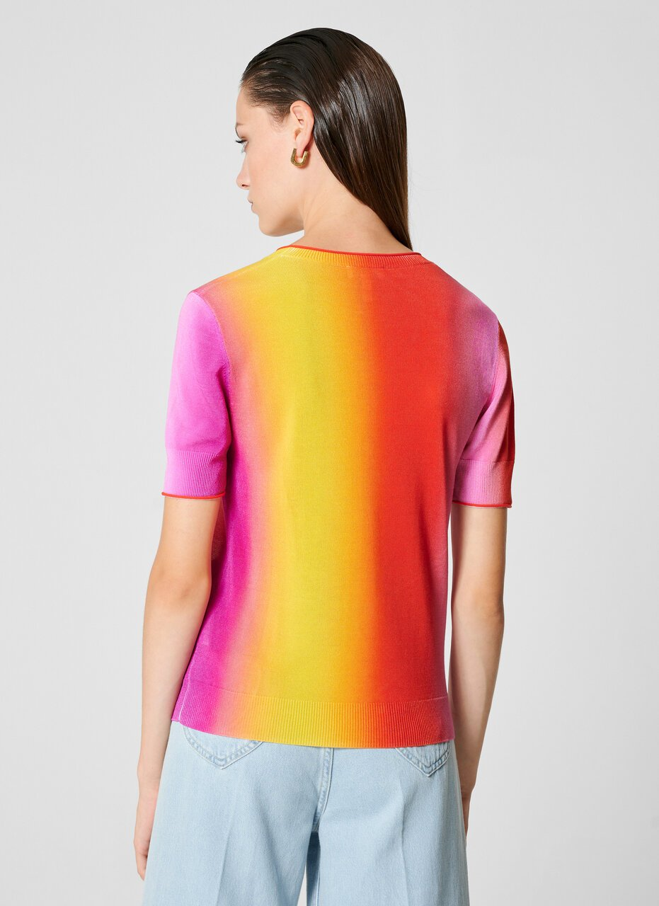 Multicolor Ombré Short-Sleeve Sweater - ESCADA ?id=16464466215044