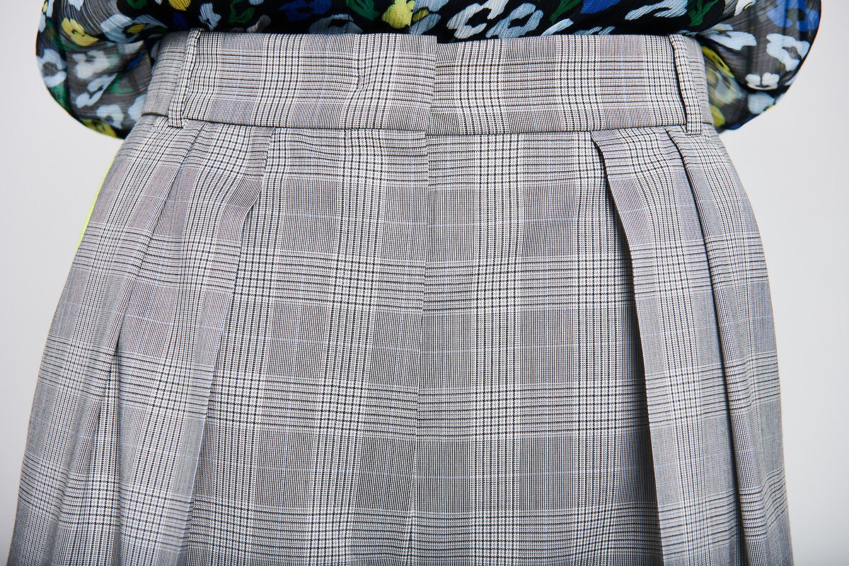 Wool Check Pleated Pants - ESCADA ?id=16179941933188