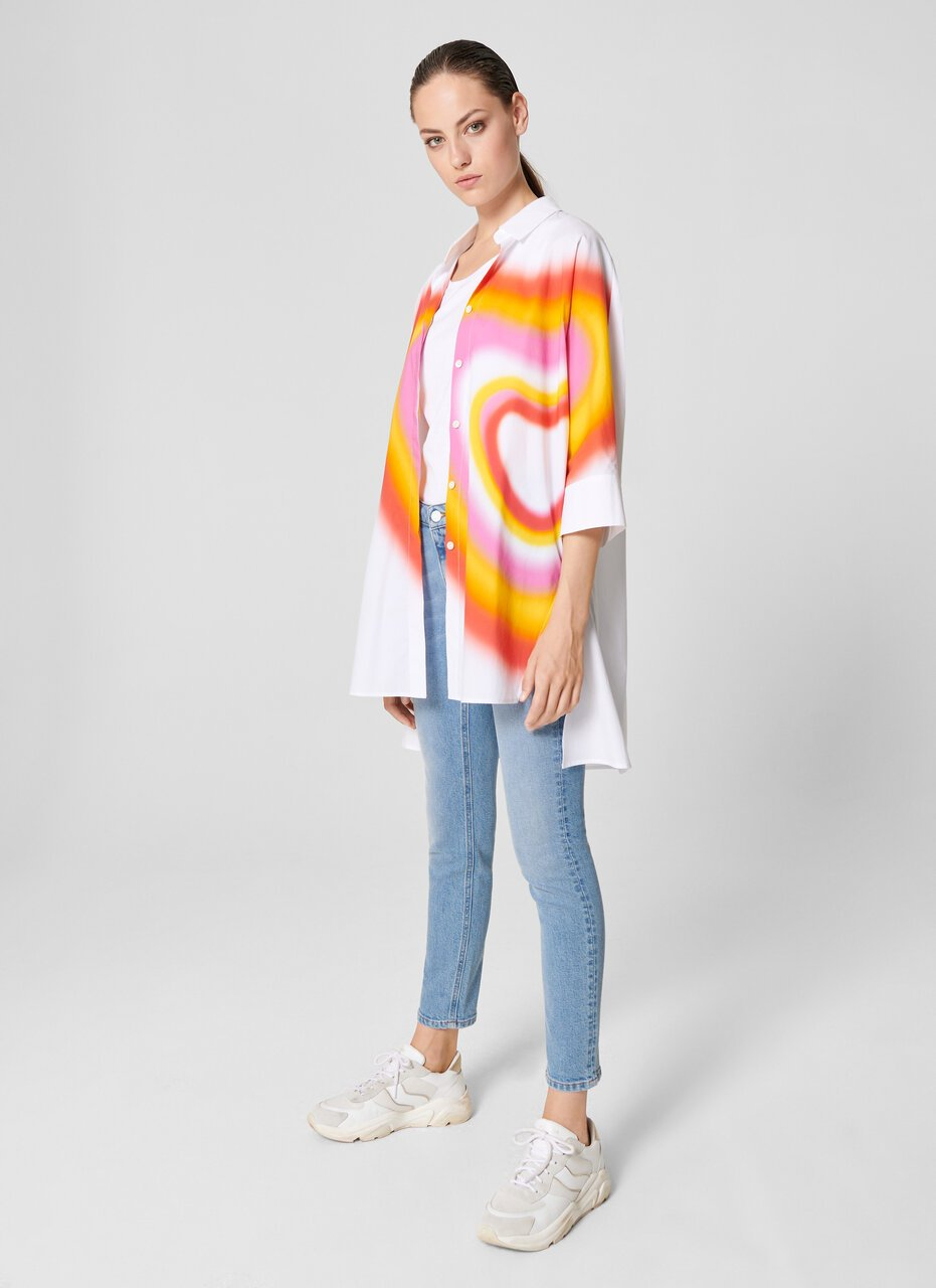 ESCADA Oversized Airbrush Heart Shirt