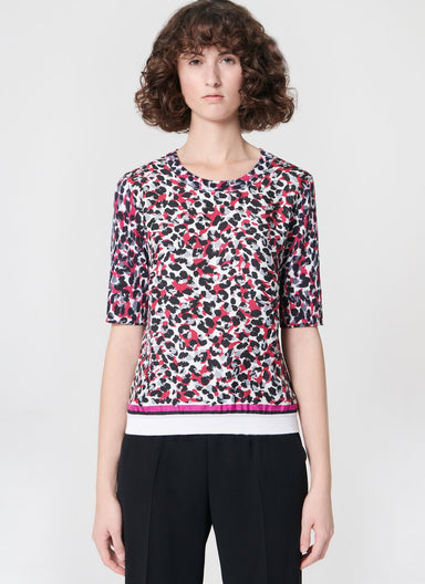 ESCADA Printed wool silk pullover