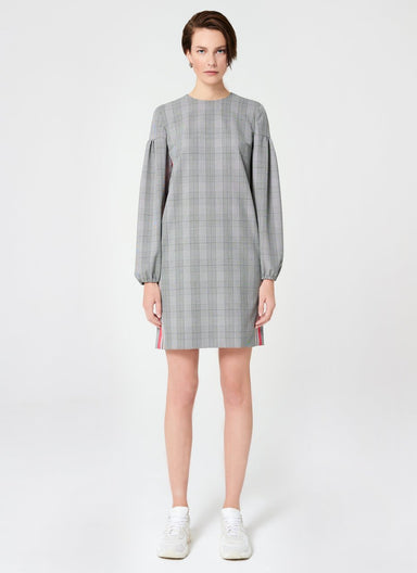 Viscose Stretch Check Design Dress - ESCADA ?id=16489919479940