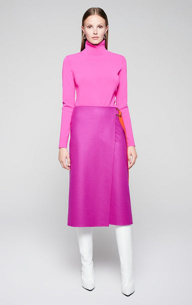 ESCADA Wool Belted Wrap Skirt