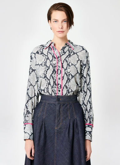 ESCADA Python Printed Viscose Silk Tunic