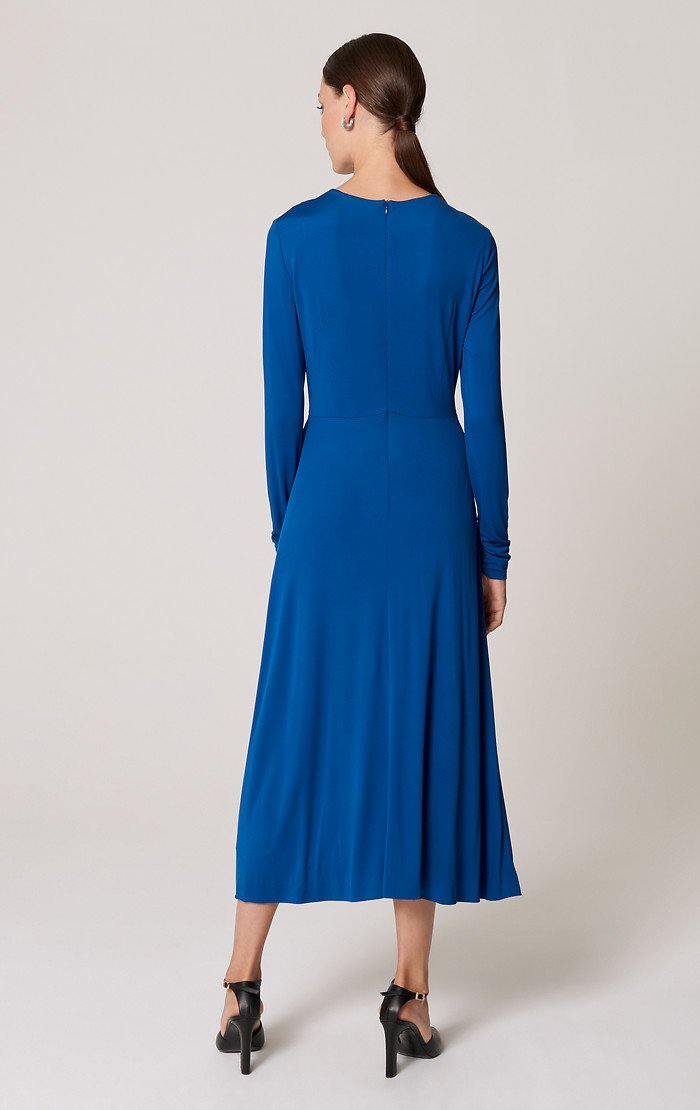ESCADA Jersey Knotted Midi Dress