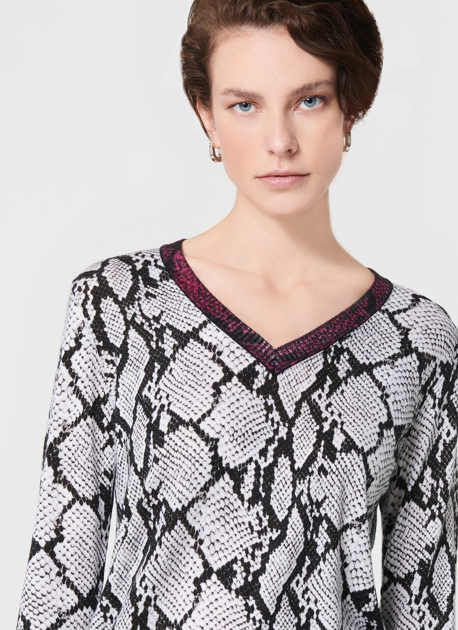 ESCADA Python Print Wool Sweater